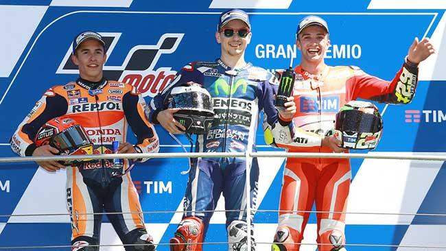 Podium du grand prix d'Italie 2016