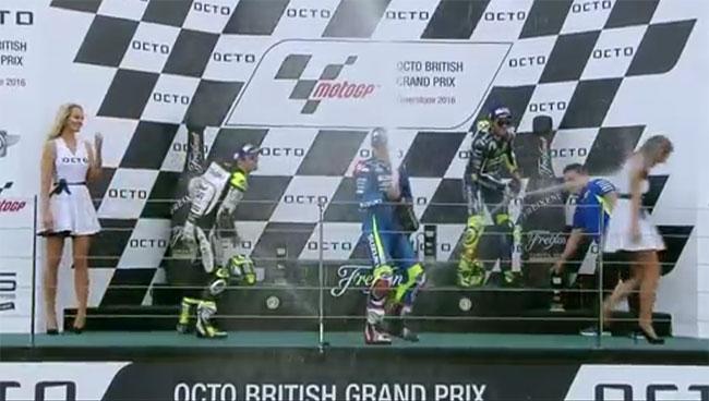 Podium du grand prix de Grande-Bretagne 2016
