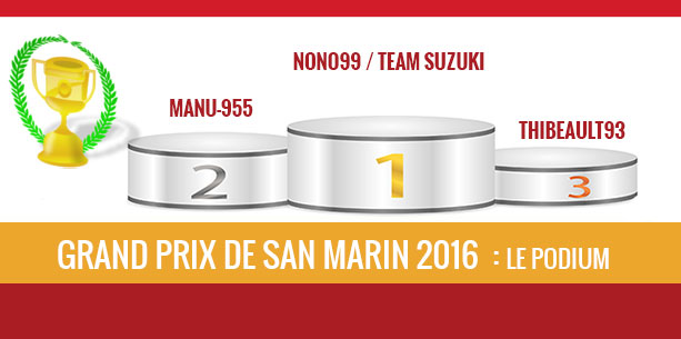 San Marin 2016, vainqueur Nono99