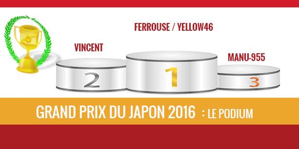 Japon 2016, vainqueur Ferrouse
