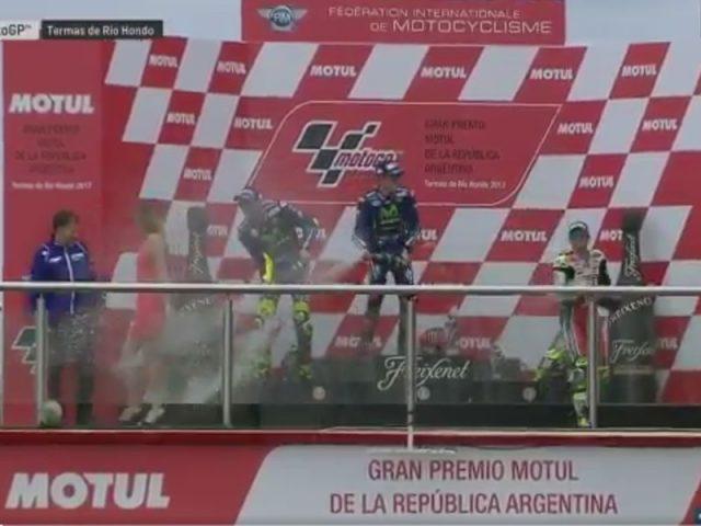 Maverick Vinales (Movistar Yamaha) vainqueur du Grand Prix d'Argentine 2017