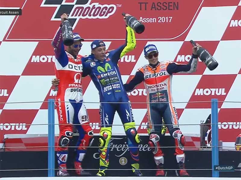 Valentino Rossi (Movistar Yamaha) vainqueur du Grand Prix des Pays-Bas 2017