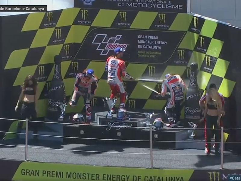 Andrea Dovizioso (Ducati Team) vainqueur du Grand Prix de Catalogne 2017