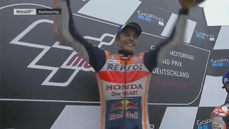 Marc Marquez (Honda Repsol) vainqueur du Grand Prix d'Allemagne 2017