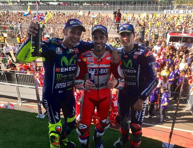Andrea Dovizioso (Ducati Team) vainqueur du Grand Prix de Grande-Bretagne 2017