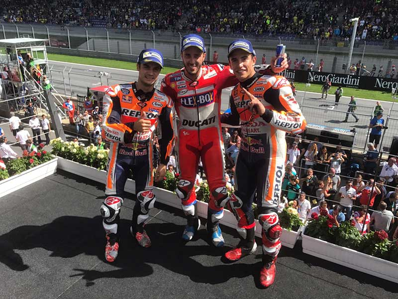 Andrea Dovizioso (Ducati Team) vainqueur du Grand Prix d'Autriche 2017
