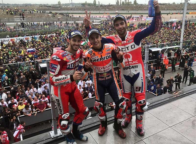 Marc Marquez (Honda Repsol) vainqueur du Grand Prix de Saint-Marin 2017