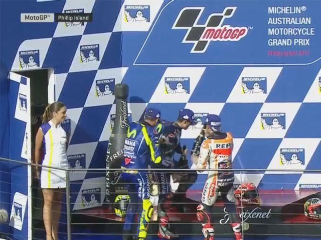 Marc Marquez (Honda Repsol) vainqueur du Grand Prix d'Australie 2017