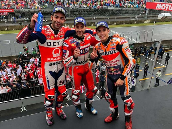 Andrea Dovizioso (Ducati Team) vainqueur du Grand Prix du Japon 2017