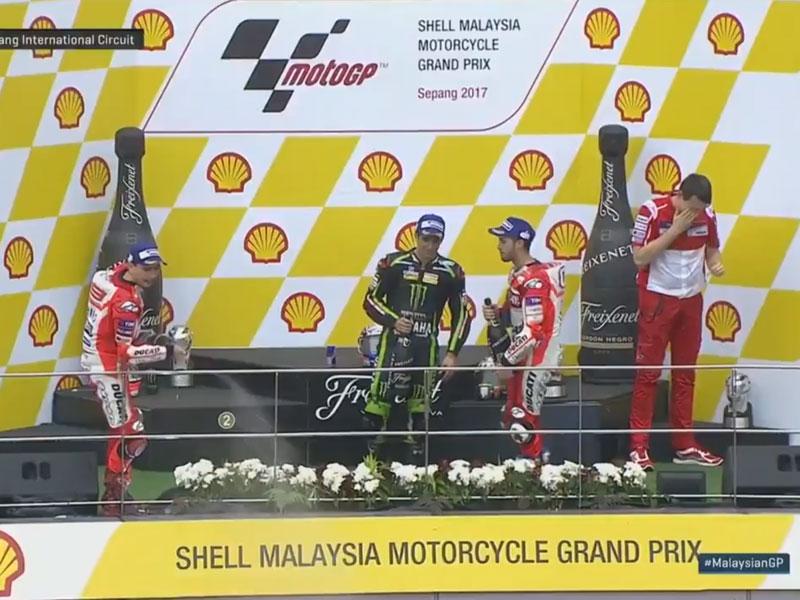 Andrea Dovizioso (Ducati Team) vainqueur du Grand Prix de Malaisie 2017