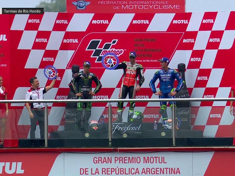 Cal Crutchlow (LCR Honda) vainqueur du Grand Prix d'Argentine 2018