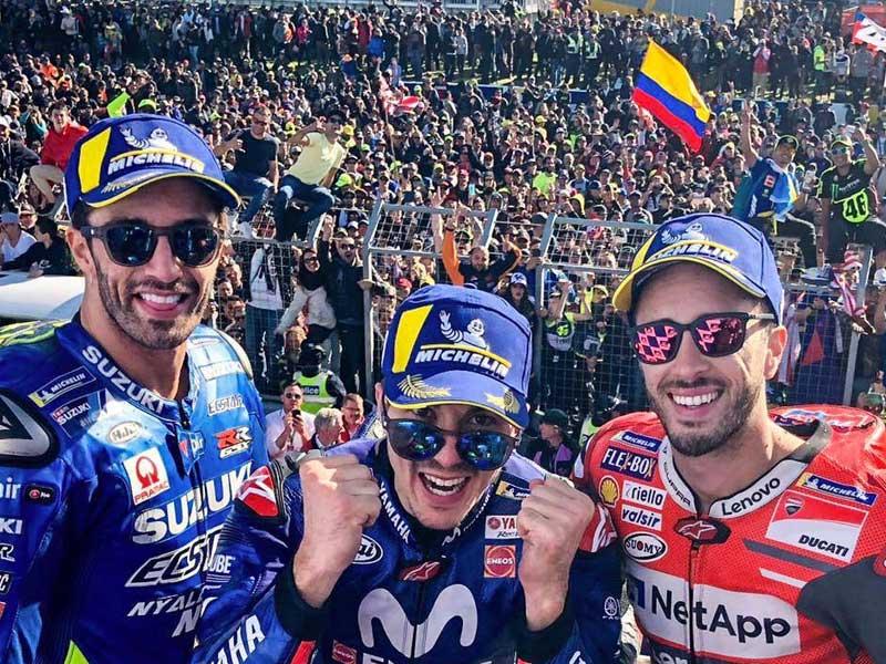 Maverick Vinales (Movistar Yamaha), vainqueur du Grand Prix d'Australie 2018