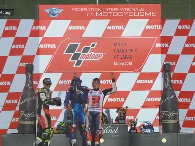 Marc Marquez (Repsol Honda) vainqueur du Grand Prix du Japon 2018 et 5ème titre de Champion du Monde Motogp