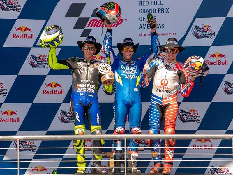 Alex Rins (Team Suzuki Ecstar) vainqueur du Grand Prix des Amériques 2019