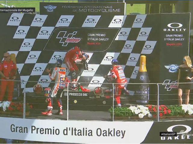 Danilo Petrucci (Mission Winnow Ducati) vainqueur du Grand Prix d'Italie 2019