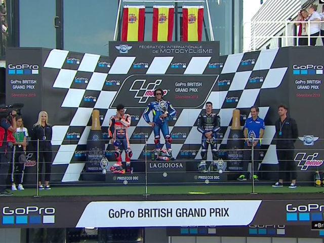 Alex Rins (Team Suzuki Ecstar) vainqueur du Grand Prix de Grande-Bretagne 2019