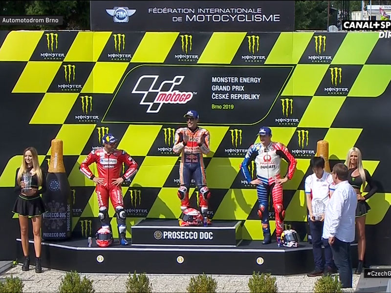 Marc Marquez (Repsol Honda Team) vainqueur du Grand Prix de République Tchèque 2019