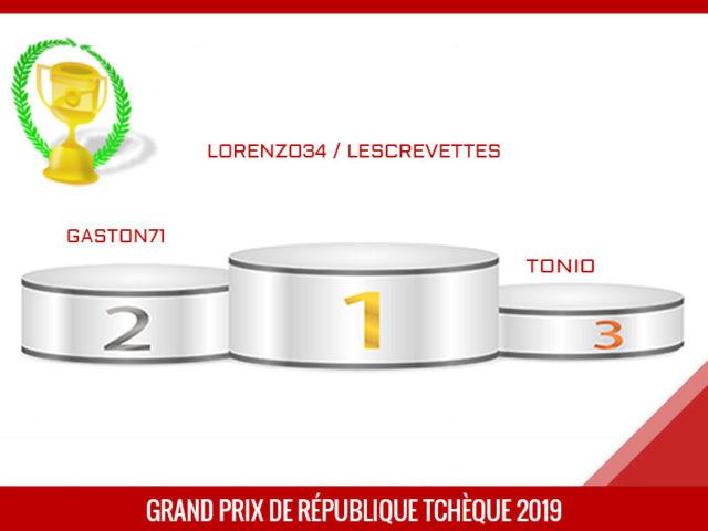 Grand Prix de République Tchèque 2019, Vainqueur, lorenzo34