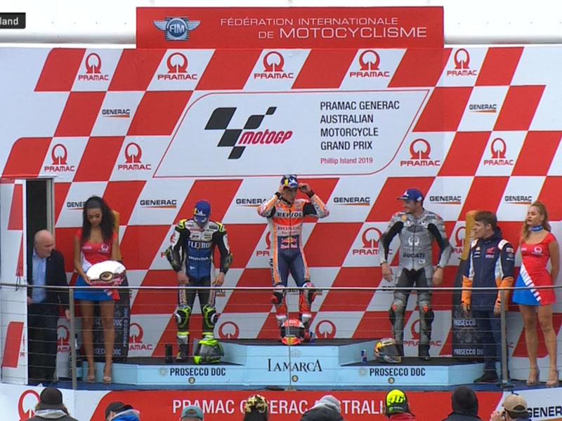 Marc Marquez (Repsol Honda Team) vainqueur du Grand Prix d'Australie 2019