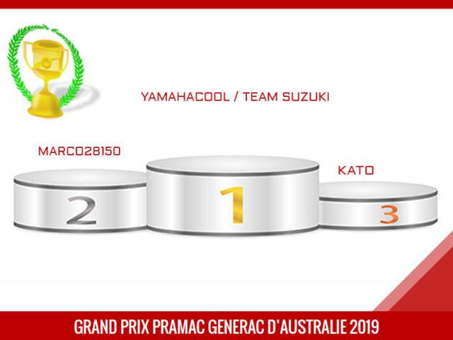 Grand Prix d'Australie 2019, Vainqueur, yamahacool
