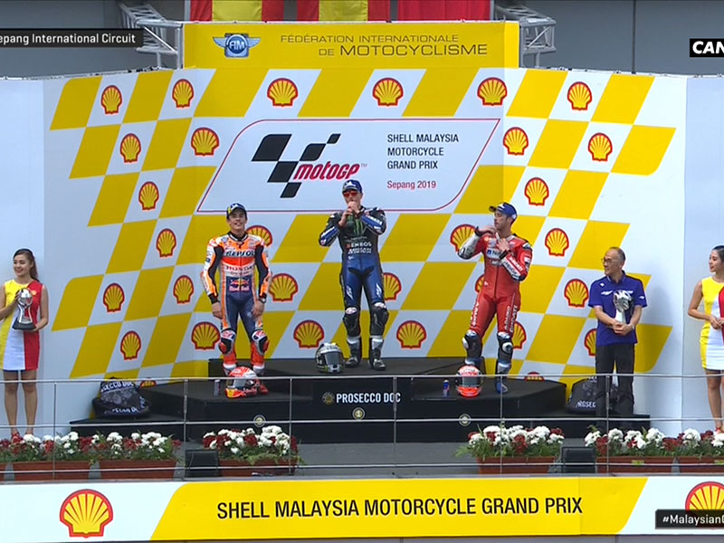 Maverick Vinales (Monster Energy Yamaha MotoGP) vainqueur du Grand Prix de Malaisie 2019
