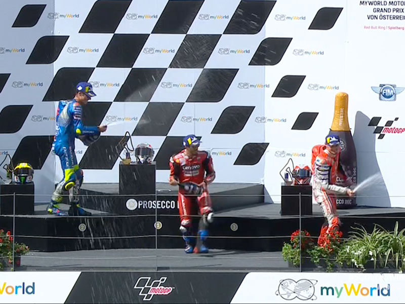 Andrea Dovizioso (Ducati Team) vainqueur du Grand Prix d'Autriche 2020