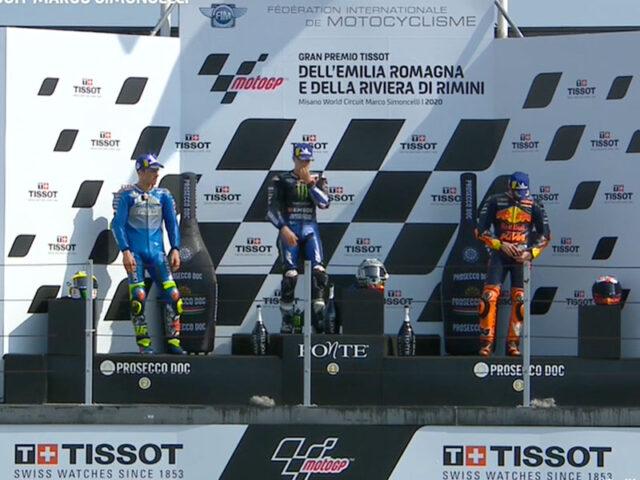 Maverick Vinales (Monster Energy Yamaha MotoGP) vainqueur du Grand Prix d'Émilie-Romagne 2020