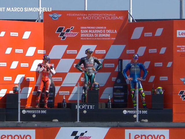 Franco Morbidelli (Petronas Yamaha SRT) vainqueur du Grand Prix de Saint-Marin 2020