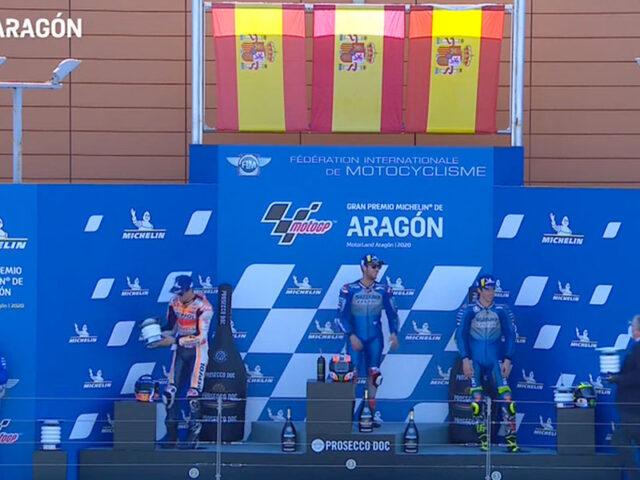 Alex Rins (Team Suzuki ECSTAR) vainqueur du Grand Prix d'Aragon 2020
