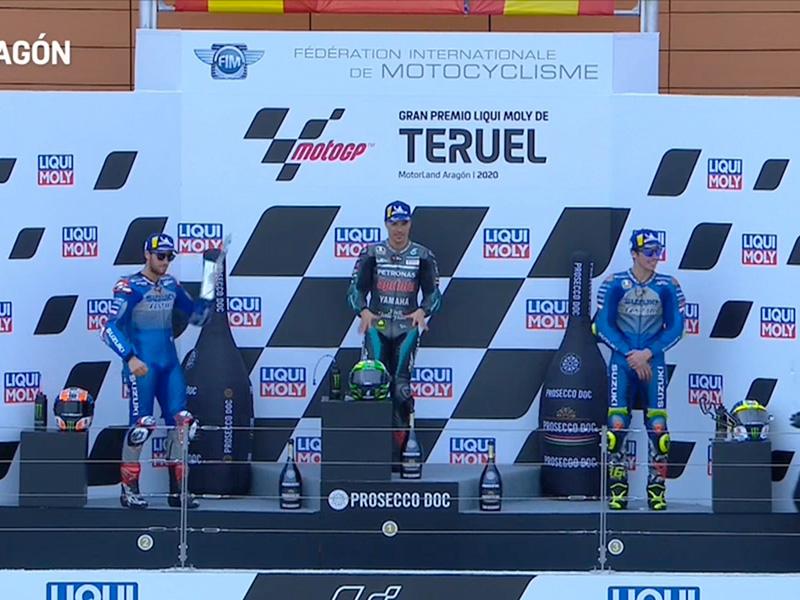 Franco Morbidelli (Petronas Yamaha SRT) vainqueur du Grand Prix de Teruel 2020