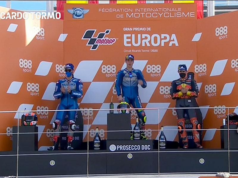 Joan Mir (Team Suzuki ECSTAR) vainqueur du Grand Prix d'Europe 2020