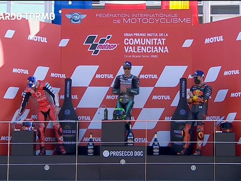 Franco Morbidelli (Petronas Yamaha SRT) vainqueur du Grand Prix de Valence 2020