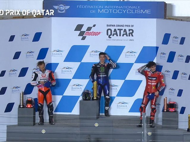 Maverick Vinales (Monster Energy Yamaha MotoGP) vainqueur du Grand Prix du Qatar 2021