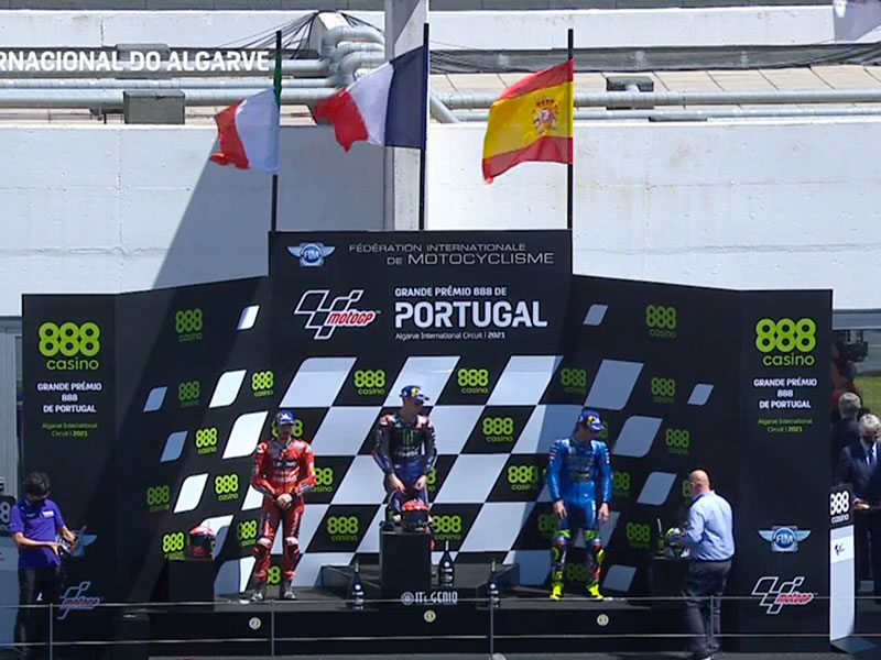 Fabio Quartararo (Monster Energy Yamaha MotoGP) vainqueur du Grand Prix du Portugal 2021