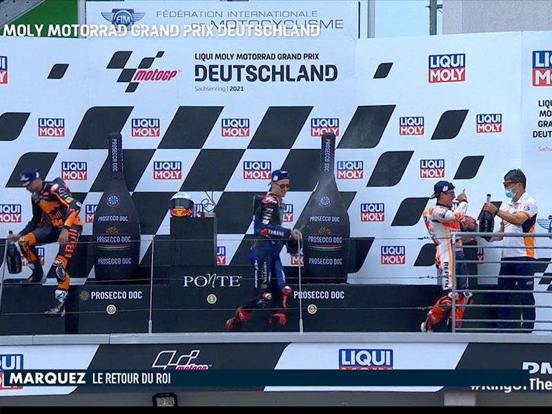 Marc Marquez (Repsol Honda Team) vainqueur du Grand Prix d'Allemagne 2021