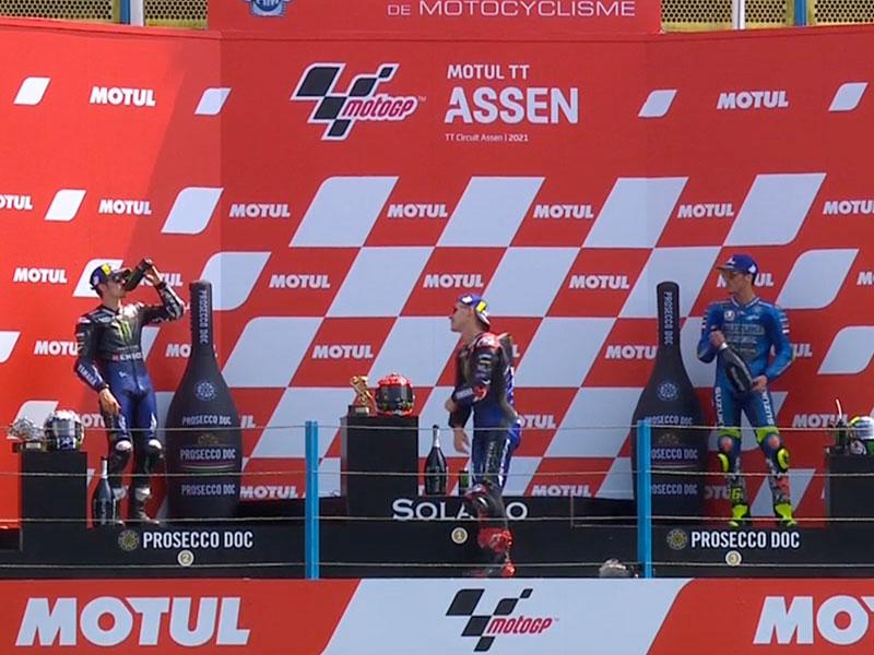 Fabio Quartararo (Monster Energy Yamaha MotoGP) vainqueur du Grand Prix des Pays-Bas 2021