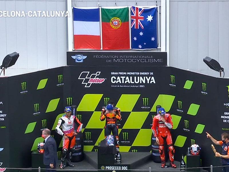 Miguel Oliveira (Red Bull KTM Factory Racing) vainqueur du Grand Prix de Catalogne 2021