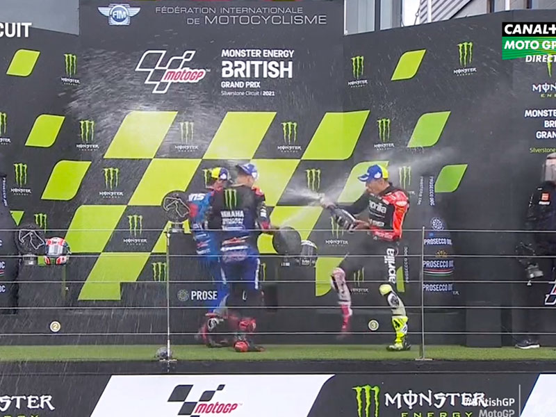 Fabio Quartararo (Monster Energy Yamaha MotoGP) vainqueur du Grand Prix de Grande-Bretagne 2021