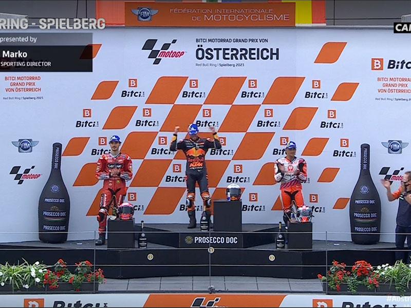 Brad Binder (Red Bull KTM Factory Racing) vainqueur du Grand Prix d'Autriche 2021
