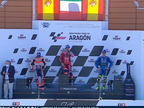 Pecco Bagnaia (Ducati Lenovo Team) vainqueur du Grand Prix d'Aragon 2021