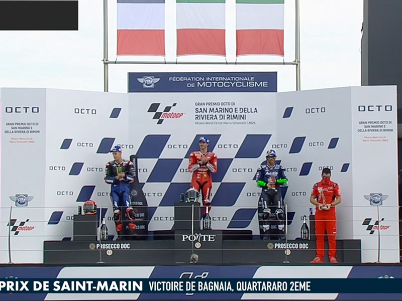 Pecco Bagnaia (Ducati Lenovo Team) vainqueur du Grand Prix de Saint-Marin 2021